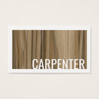 Cartes De Visite La conception en bois de Zebrano de charpentier a