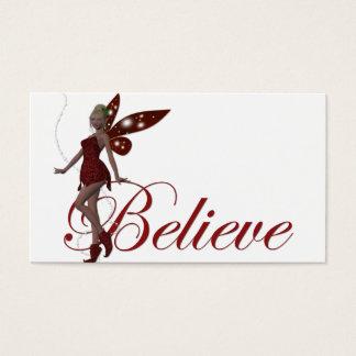 Cartes De Visite La fée de Noël croient des étiquettes de cadeau de