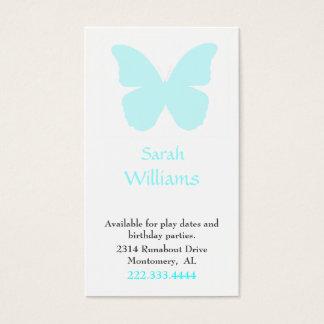 Cartes De Visite La télécarte de la fille de silhouette de papillon