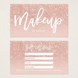 Cartes De Visite La typographie de certificat de maquillage