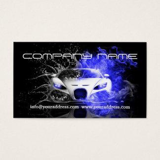 Cartes De Visite La voiture blanche de emballage des véhicules à