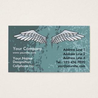 Cartes De Visite L'ange s'envole le bleu boueux