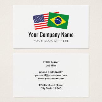 Cartes De Visite L'anglais américain portugais brésilien de