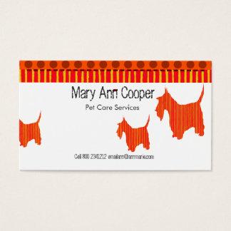 Cartes De Visite L'animal familier mignon de Scott Terrier