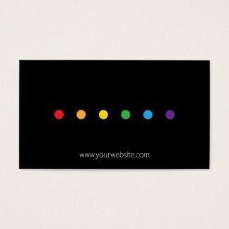 Cartes De Visite L'arc-en-ciel pointille la fierté de LGBT