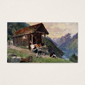 Cartes De Visite Le cabine des domestiques norvégiennes de lait