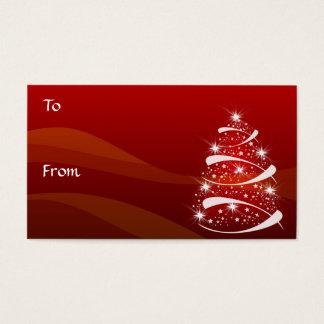 Cartes De Visite Le cadeau d'arbre de Noël étiquette le *TBA