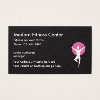 Cartes De Visite Le centre de fitness établissent le gymnase