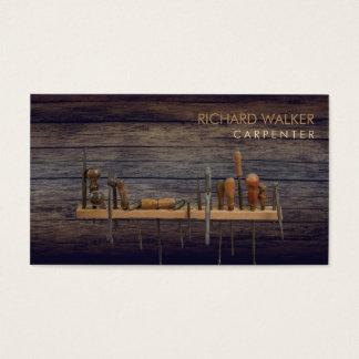 Cartes De Visite Le charpentier usine le bois rustique
