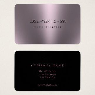Cartes De Visite Le double métallique violet de regard a dégrossi