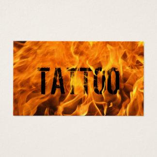 Cartes De Visite Le feu flamboyant unique d'artiste de tatouage