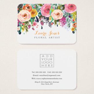 Cartes De Visite Le fleuriste floral peint ajoutent pour posséder