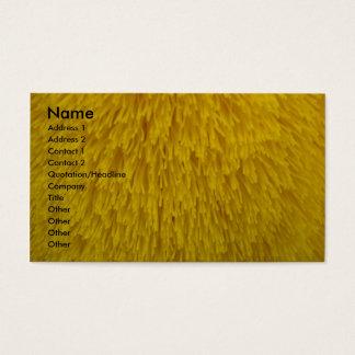 Cartes De Visite Le jaune frottent la brosse