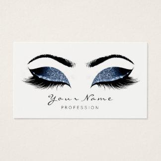 Cartes De Visite Le maquilleur bleu de marine fouette le studio de
