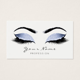 Cartes De Visite Le maquilleur bleu gris fouette le studio de