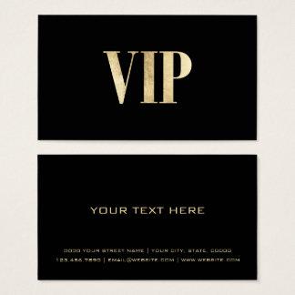 Cartes De Visite Le noir de luxe moderne et l'or VIP cardent le