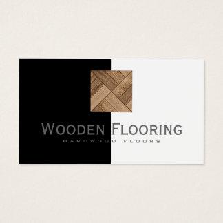 Cartes De Visite Le plancher/planchers en bois dur en bois