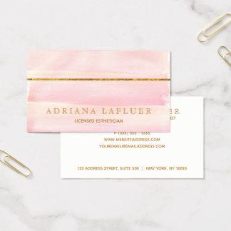 Cartes De Visite Le spa et le salon élégants de jour rougissent or