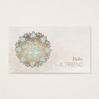 Cartes De Visite Le thérapeute de massage de Lotus bleu se réfèrent