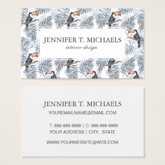 Cartes De Visite Le toucan gris | ajoutent votre nom
