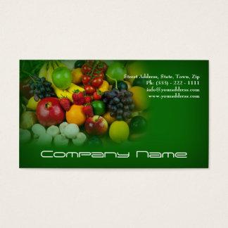 Cartes De Visite Légumes fruits/vie saine/carte végétarienne
