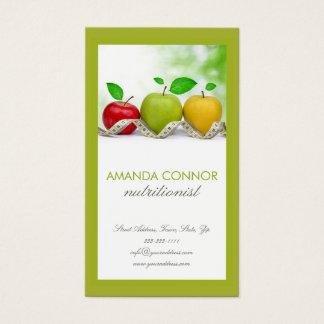 Cartes De Visite L'entraîneur Apple de nutrition de nutritionniste