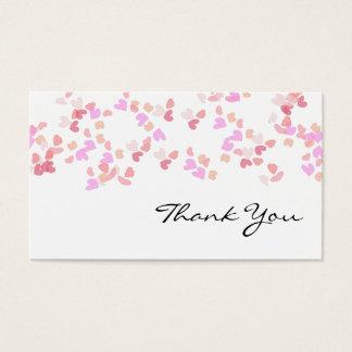 Cartes De Visite Les coeurs vous remercient