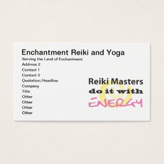 Cartes De Visite Les maîtres de Reiki le font avec de l'énergie