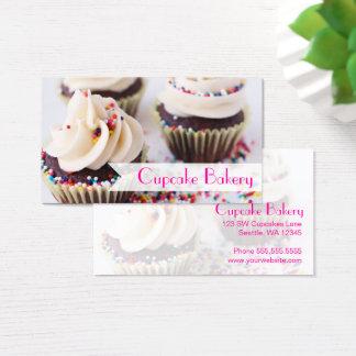 Cartes De Visite Les petits gâteaux de chocolat arrose le givrage