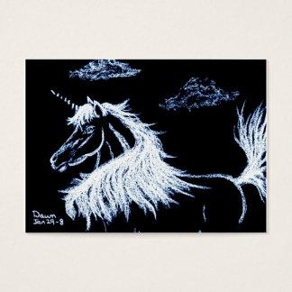 Cartes De Visite licorne - cheval d'imaginaire équin