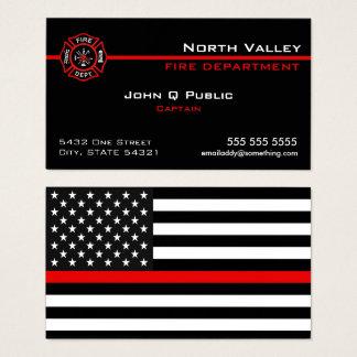 Cartes De Visite Ligne rouge mince drapeau américain