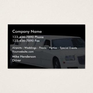 Cartes De Visite Limousine de taxi