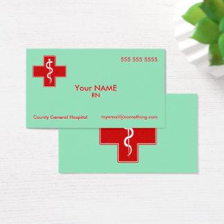 Cartes De Visite L'infirmière frotte le vert