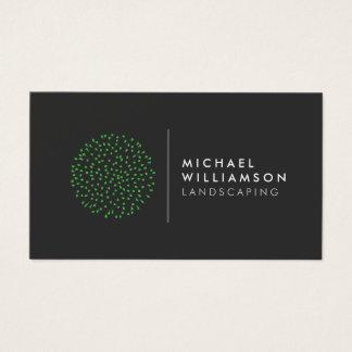 Cartes De Visite Logo de aménagement de jardinier moderne