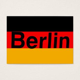 Cartes De Visite Logo de Berlin dans le noir sur le drapeau