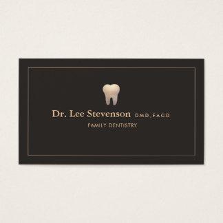 Cartes De Visite Logo de dent de bureau de dentiste