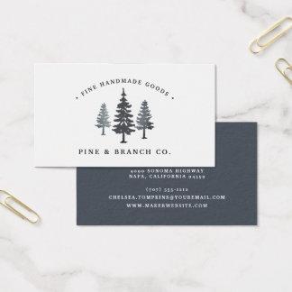 Cartes De Visite Logo de pin de la forêt   d'hiver