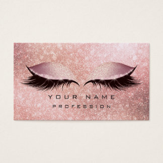 Cartes De Visite L'or rose de scintillement de mèches de yeux de