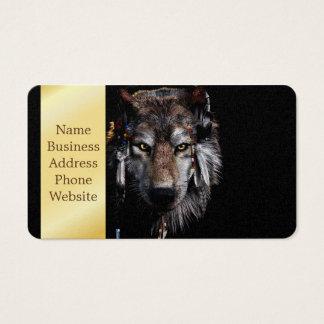 Cartes De Visite Loup indien - loup gris