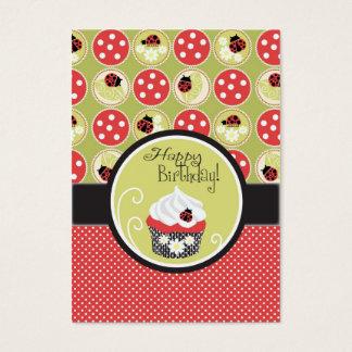 Cartes De Visite Madame Bug et étiquette de cadeau de petit gâteau