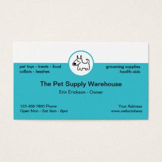 Cartes De Visite Magasin d'approvisionnement d'animal familier