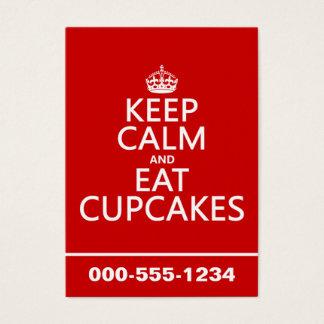 Cartes De Visite Maintenez calme et mangez les petits gâteaux