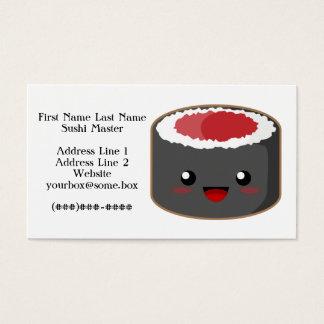 Cartes De Visite Maître de sushi