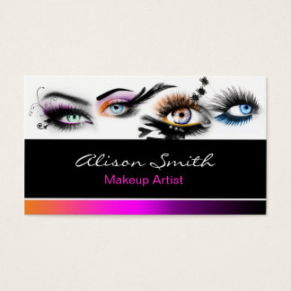 Cartes De Visite MakeUp artist business card