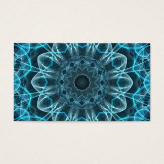 Cartes De Visite Mandala de bonheur de bleu glacier