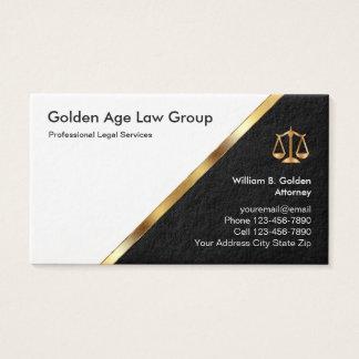 Cartes De Visite Mandataire chique et services juridiques