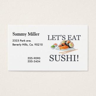 Cartes De Visite Mangeons les sushi