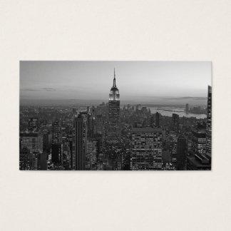 Cartes De Visite Manhattan noire et blanche