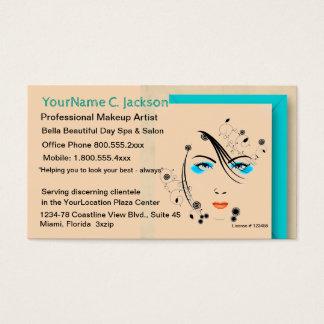 Cartes De Visite Maquillage et cheveux de spa de salon