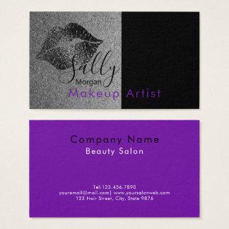 Cartes De Visite Maquilleur - conception de logo de lèvre